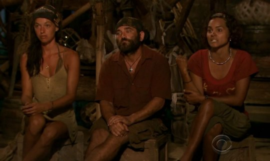 Survivor Heroes vs Villans final 3 Parvati Russell and Sandra