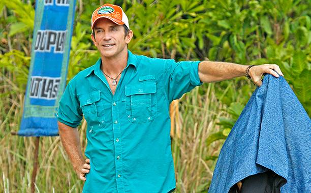 Jeff Probst revealing a reward