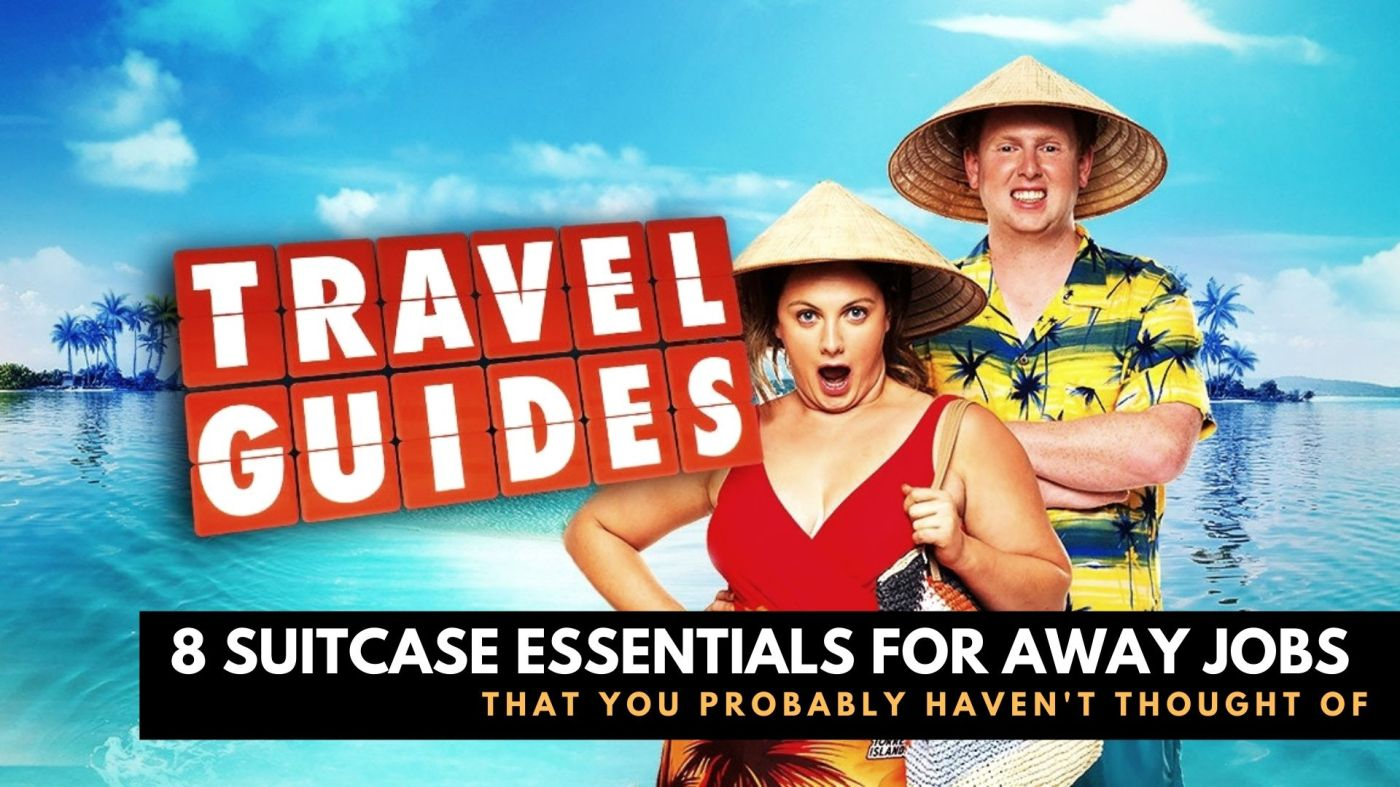 Travel Guides Reality TV Show Personalities Posing Ready For Travel