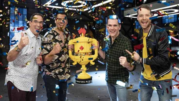 Lego Masters Winning Team with Hamish Blake and Brickman