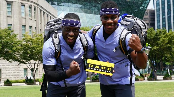 Team Nick and Femi The Amazing Race